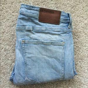 &Denim Super Skinny Low Waist Ripped Jeans